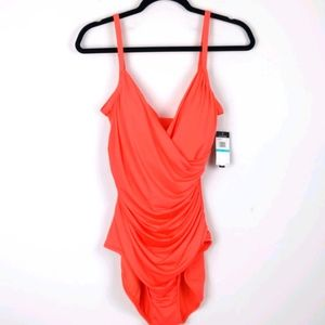 Jantzen-Orange/ Coral one piece swimsuit size 16